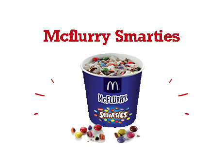 Mcflurry Smarties   McDONALD's Maroc