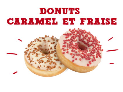 Donuts Caramel et Fraise