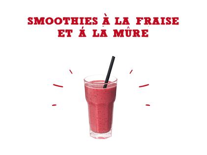 Smoothies à la fraise & à la mûre