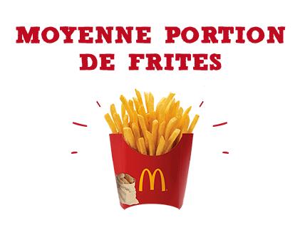 Moyenne portion de frites