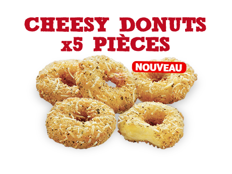 Cheesy Donuts X 5 pièces