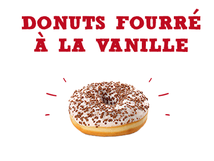 Donuts fourré à la vanille
