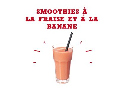 Smoothies à la fraise & à la banane